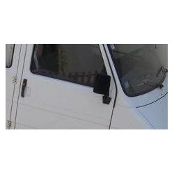 Retroviseur exterieur FIAT 242 - Manuel - Droit - Glace Bombee - Coiffe Noir