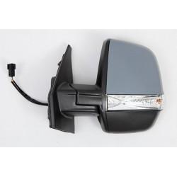 Retroviseur exterieur FIAT DOBLO CARGO 01/2010- - Electrique - Droit- Degivrant - Glace Bombee - Coiffe Noir - Clignotant - Sond