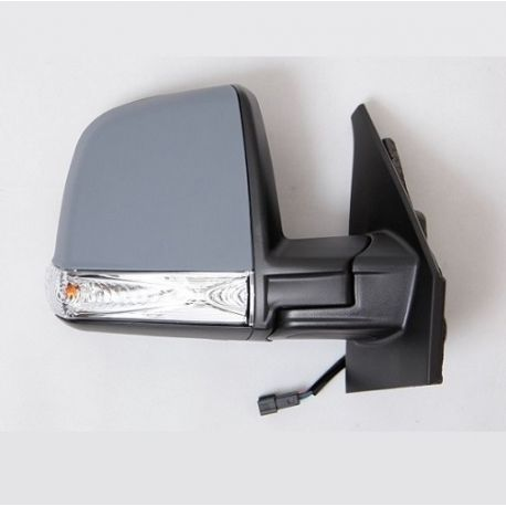 Retroviseur exterieur FIAT DOBLO 01/2010- - Electrique - Droit - Degivrant - Glace Bombee - Coiffe a peindre - Clignotant