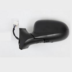 Retroviseur exterieur FIAT IDEA 2010- - Electrique - Gauche - Dégivrant - Glace Bombee - Sondes de température - Coiffe Noire