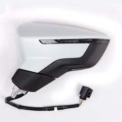 Retroviseur exterieur SEAT LEON 10/2012 - Electrique - Degivrant - Clignotant - Coiffe a peindre - Rabattable Electrique - Gauch