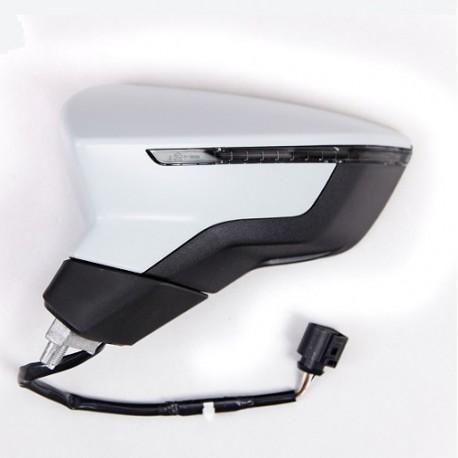 Retroviseur exterieur SEAT LEON 10/2012 - Electrique - Degivrant - Clignotant - Coiffe a peindre - Droit